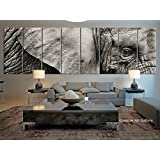8 Panel Extra Large Elephant Canvas Print, Large Wild Elephant Large Wall Art Canvas Print - Africa Wild Animal Canvas Print- 12x32 Inch Each Panel- 96x32 Inch Total