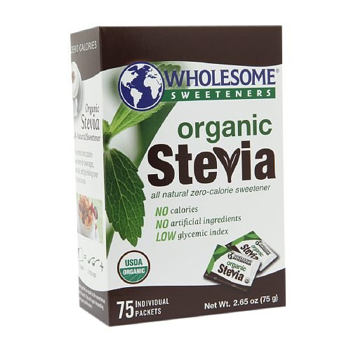 Wholesome Sweeteners Organic Sweeteners Stevia 75 Packets (Pack of 2)