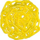 Mr. Chain 51002-50 Heavy Duty Plastic Barrier Chain, 2'', 50', Yellow