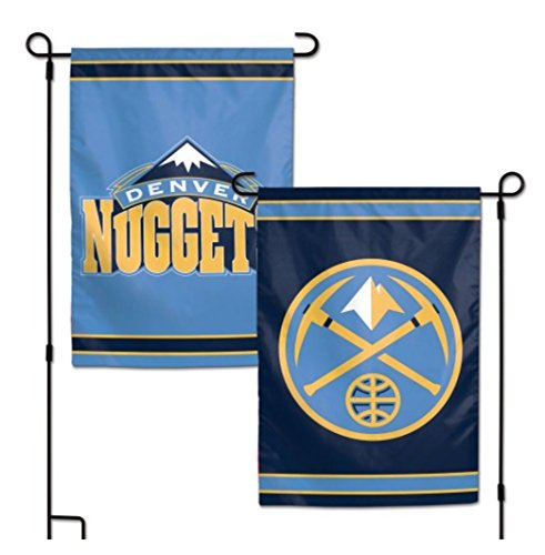 "NBA Denver Nuggets 12.5"" X 18"" Inch 2-Sided Garden Flag Logo"