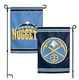 WinCraft NBA Denver Nuggets 12.5'' x 18'' Inch 2-Sided Garden Flag Logo
