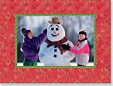 Festive Red Christmas Photo Frame (Greeting Cards, Christmas Photo Cards)
