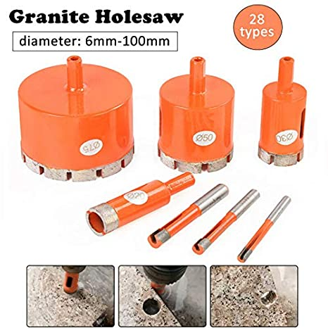 para porcelana cer/ámica Broca para sierra perforadora de diamantes terrazzo pizarra m/ármol azulejos granito naranja Powertool