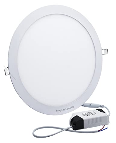 pretty nice ba462 175a1 24w LED Round Recessed Ceiling Panel Down Light Flat Ultra Slim Lamp Cool  White 7000K Super Bright 300mm x 300mm