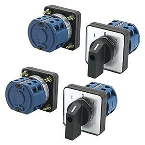 660V 20A 3posiciones de dos polos cuadrada cambio interruptor de montaje en panel 4pcs