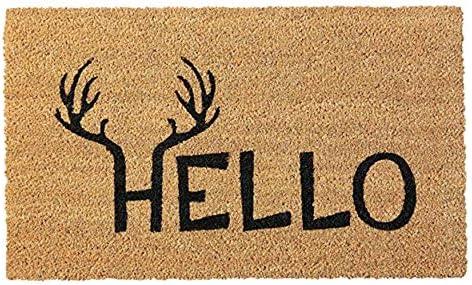 Home More 121712436 Antler Hello Doormat 24 X 36