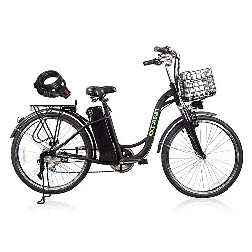 NAKTO City Adult Electric Bicycles [1 Year Warranty] 250W Power Assisted Bicycle for Couples Models with Removable 36V 12A Large Capacity Lithium Battery and Charger Ebike
