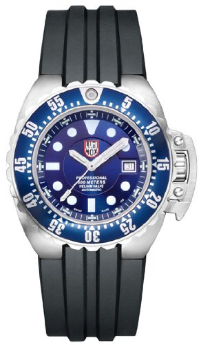 Men's Deep Dive Automatic Blue Dial Black Rubber