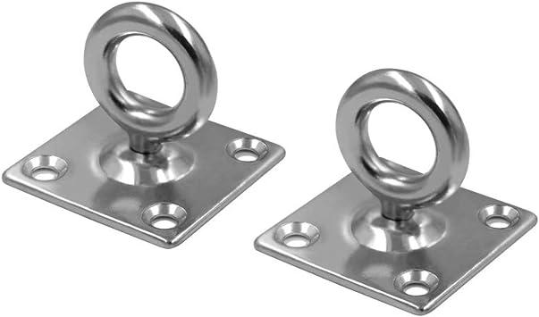 316 Stainless Steel Fittings 4pcs 6mm Marine Boat Diamond Plate Eye Hook