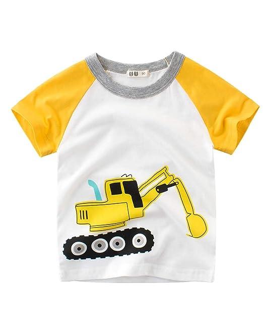 Askong - Camiseta de Manga Corta para niños con Estampado de ...