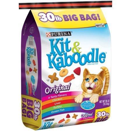 PACK OF 2 - Purina Kit & Kaboodle Original Cat Food 30 lb. Bag