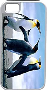 Blueberry Design iPhone 4 iPhone 4S Case Three penguins standing Design - Ideal Gift