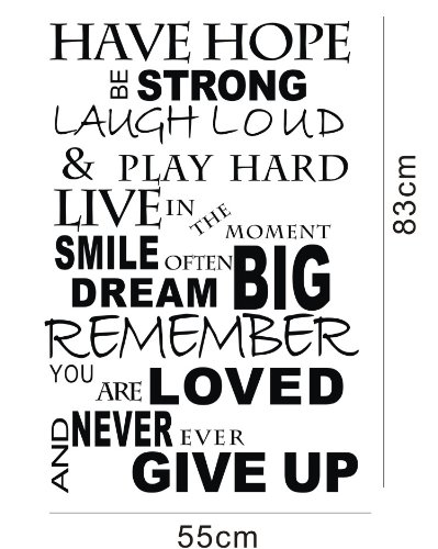 Olivia Inspirational Quotes Wall Stickers Decals Have