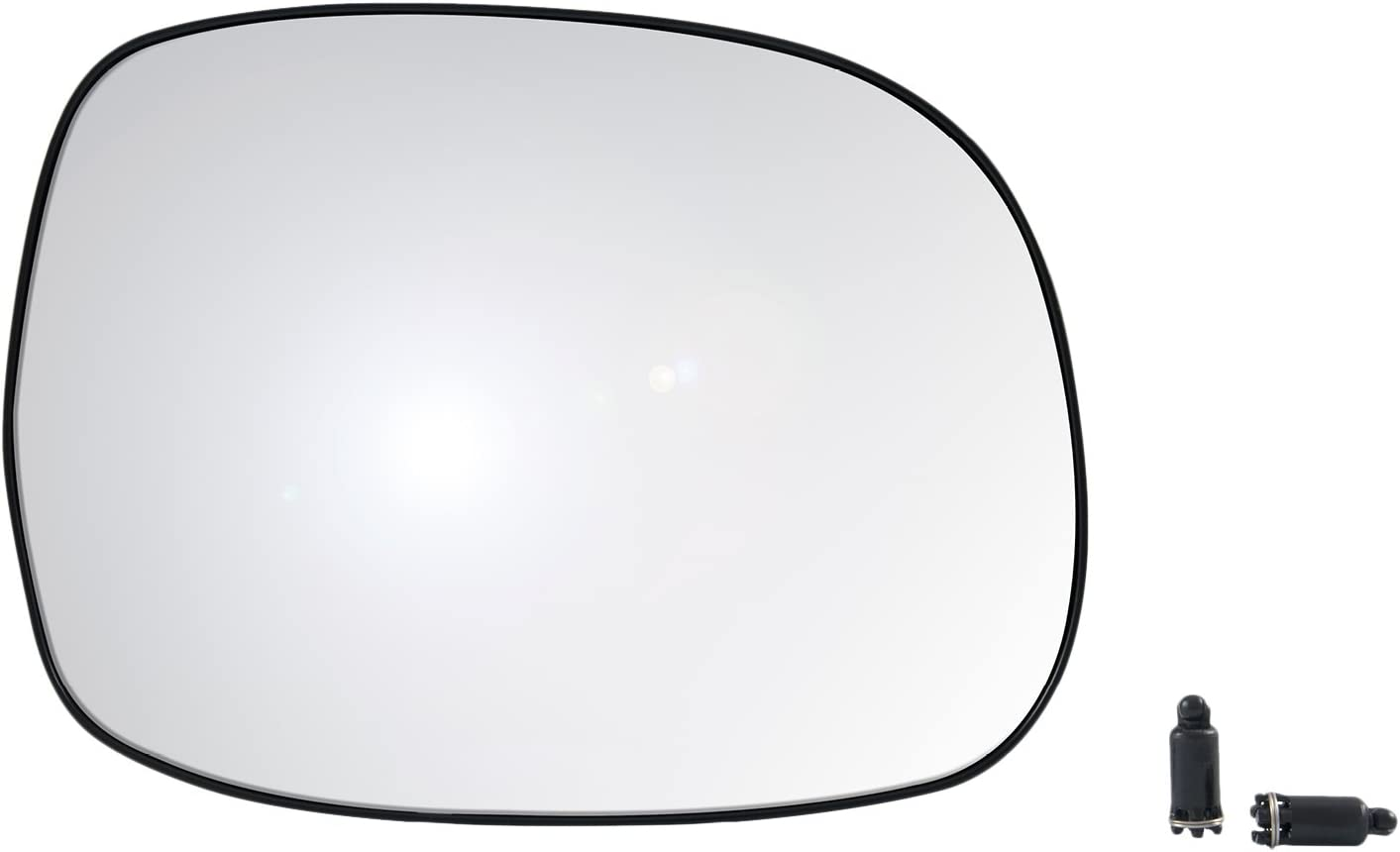 6 1//4 x 8 3//16 x 8 3//4 Passenger Side Heated Mirror Glass w//backing plate OE Magna Brand Toyota Sequoia SR5 Model Tundra