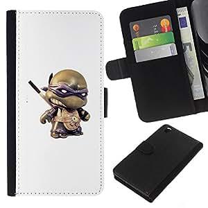 EJOY---La carpeta del tirón la caja de cuero de alta calidad de la PU Caso protector / HTC DESIRE 816 / --Figurita 3D Toy héroe de dibujos animados