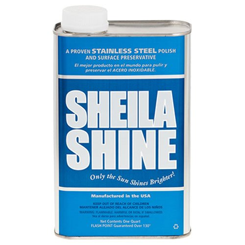 Sheila Shine Stainless Steel Cleaner and Polish 1 Quart Can Sold Indivdually (Rub Faucet)