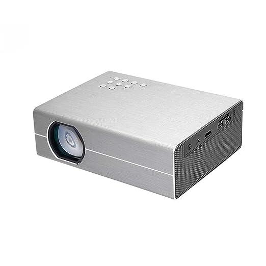 Wangchengtyy Proyector Mini HD 3000 lúmenes 1080P portátil para ...