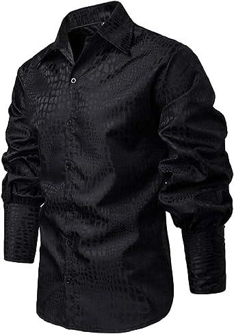 SHOWNO Men Plaid Check Drawstring Hoodie Long Sleeve Stylish Buttons Dress Shirts