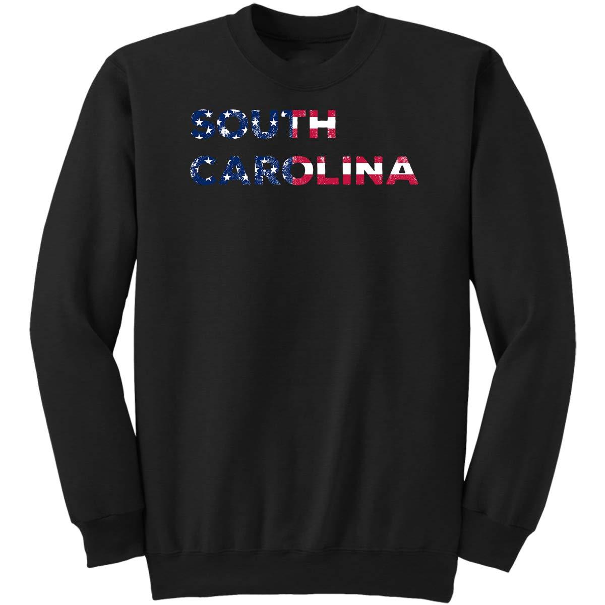 South Carolina-State Pride America Flag Sweatshirt South Carolina State Gifts