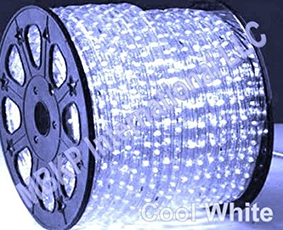 COOL WHITE 12 V Volts DC LED Rope Lights Auto Lighting 25 Meters(82 Feet)