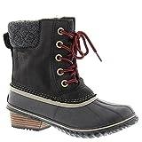 Sorel Women's Slimpack Lace II Snow Boot, Black, Kettle, 9.5 M US