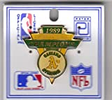 Oakland A's 1989 American League Champions Pin by Peter David
