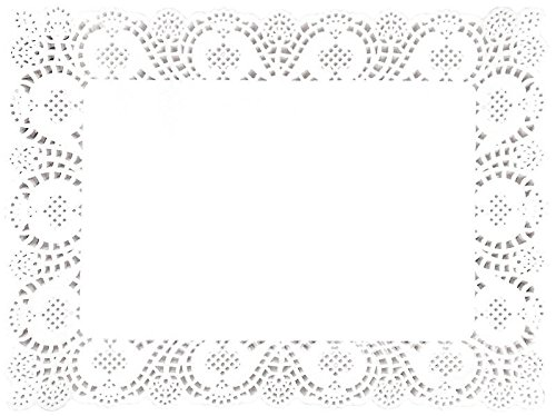 18 Table Cake Paper Doilies Dinner Party Wedding Christmas Plates Rectangular Placemats Catering White Concept4u