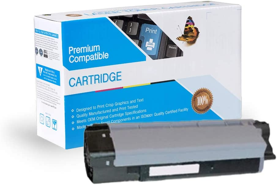 Works with: C2032 C2032 MFP Black On-Site Laser Compatible Toner Replacement for Oki-Okidata 43324477