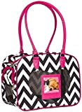 J Garden Chevron Pet Carrier (Pink)