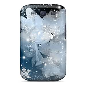 Fashionable Style Case Cover Skin For Galaxy S3- Snowflakes Sakura Blossoms