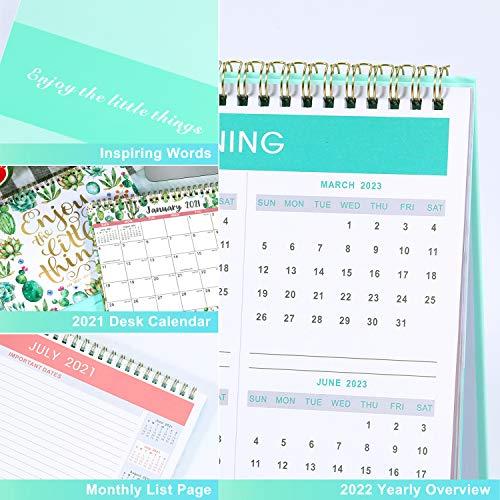 2022 Desktop Calendar.Desk Calendar 2021 2022 Standing Flip 2021 2022 Desktop Calendar With Thick Paper Jan 2021 Jun 2022 10 X 8 3 Memo Pages Stand Up Desk Calendar With Strong Twin Wire Binding Blank Blocks Pricepulse