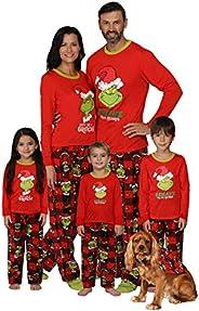 Dr. Seuss Grinch Christmas Pajamas - Matching Family Adult Kids Costume Pajama Sets