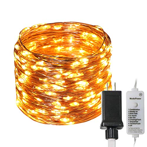 Koopower 200LED Fairy Lights 64ft Starry String Lights Waterproof Copper Wire Micro Lights Plug in for Indoor Outdoor…