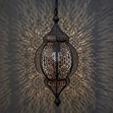 Home Sake Classic Moroccan Orb Hanging Lamp, Antique Copper Hanging Decorative Pendant & Celling Lamps Light |Home Decor