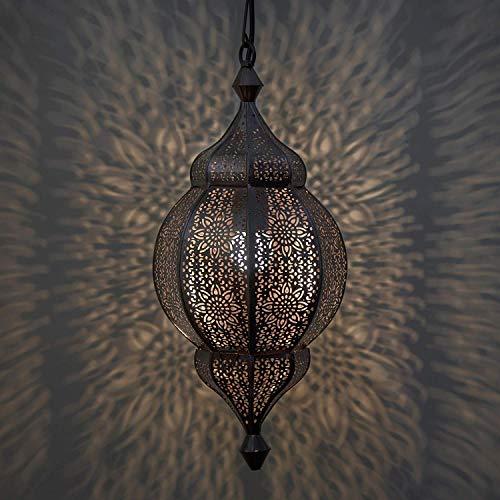 Moroccan Copper Pendant Light in US - 6