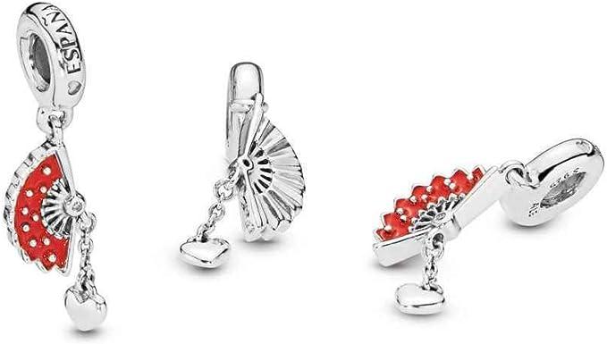 Pandora Charm Abanico español Rojo 797879EN09: Amazon.es: Ropa y accesorios