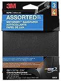 3M 03025 4-1/2'' x 5-1/2'' Quarter Sheet Assorted Abrasive Pack