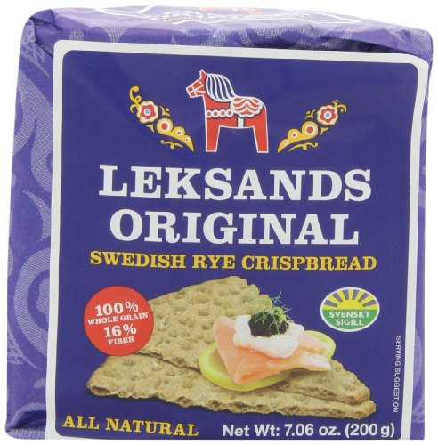Cheese Wedges Snacks - Leksands Original Swedish Rye Crispbread - Wedge, 7.06-Ounce Packages (Pack of 12)