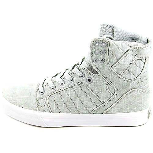 Regular Black US Supra Grey 10 Skytop White Shoe Washed Canvas qwvxxEFX4
