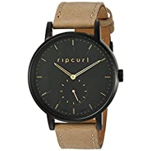 Rip Curl 'Circa' Quartz Stainless Steel and Leather Sport Watch, Color:Brown (Model: A2935G-MID)