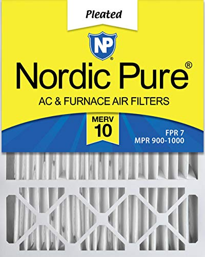 Nordic Pure 20x25x5 (4-3/8 Actual Depth) MERV 10 Honeywell Replacement Pleated AC Furnace Air Filter, Box of 2 ()