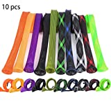 CAPACI Fishing Rod Sleeve Braided Mesh Rod Protector Fishing Rod Sock Cover Pole Glove Tools 10 Pcs (10pcs 10 Color)