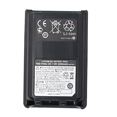 FNB-V104LI FNB-V104 2200mAh High Capacity Li-ion Rechargeable Battery Pack For Yaesu Vertex VX-230 VX-231 VX-234 VX-228 (231 Light)