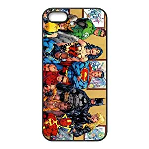 Popular And Durable Designed TPU Case With dc comics superheroes iPhone 5 5s Cell Phone Case Black