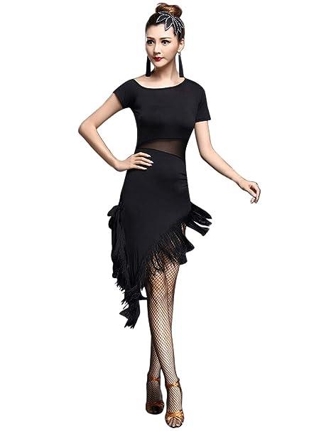 besbomig Sexy Nappa Vestito da Ballo Latino Donna Festa Competizione  Dancewear - Ballroom Salsa Samba Tango Costume Danza da Ballo  Amazon.it   Abbigliamento a937f9fe10e