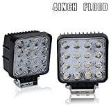 Flood Lights On Front Rear Bumper 4 In Pods Cube Square Led Fog Lights Backup Reverse Drl Running For 4 Wheeler Honda Pioneer Boat John Deere Motorhome Motorcycle Pickup Side By Side Tractor Trailers