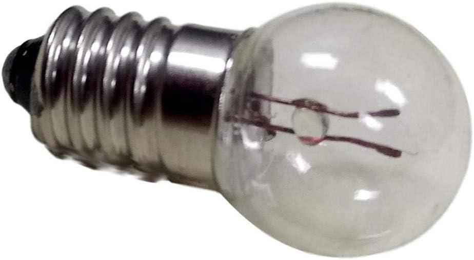 Gutreise DC 50 pcs E10 3.8V 0,3 A Blanc chaud ampoule ampoules miniature Culot /à vis