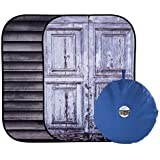 Lastolite by Manfrotto LL LB5717 1.5 x 2.1 m Shutter/Distressed Door Urban Collapsible Background