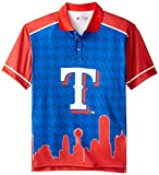 FOCO Texas Rangers Polyester Short Sleeve Thematic Polo Shirt Large