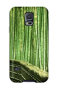 Rugged Skin Case Cover For Galaxy S5- Eco-friendly Packaging(bamboo)